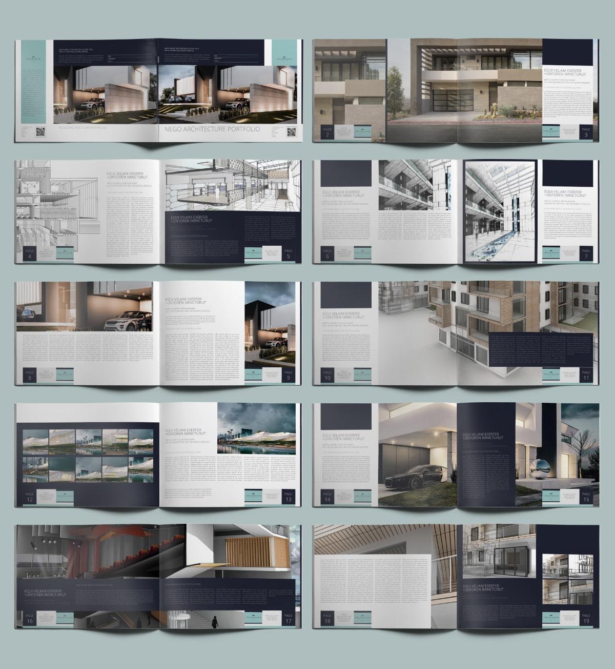 Nego Architecture Portfolio A4 Landscape - Layouts