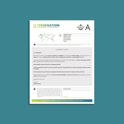 Octo Contract Termination US Letter Template