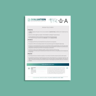 Octo Employee Evaluation Policy A4 Template
