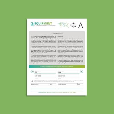 Octo Equipment Lease Agreement US Letter Template