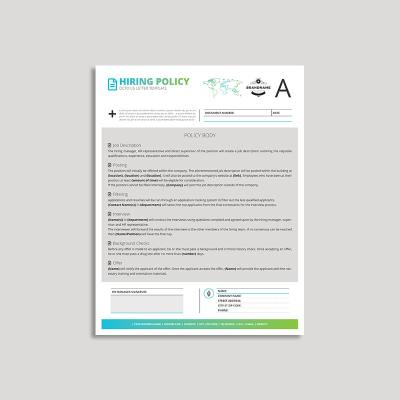 Octo Hiring Policy US Letter Template
