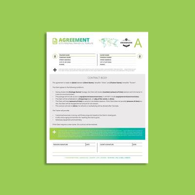 Octo Personal Trainer Agreement US Letter Template