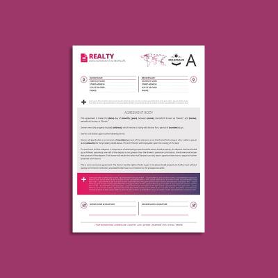 Octo Realty Agreement A4 Template