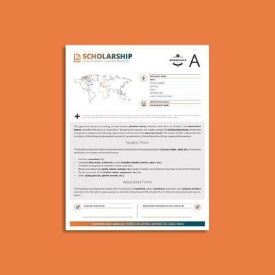 Octo Scholarship Contract US Letter Template