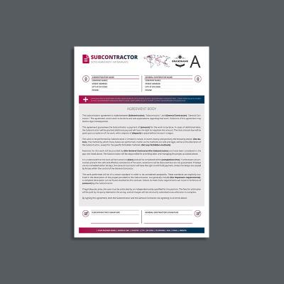 Octo Subcontractor Agreement A4 Template