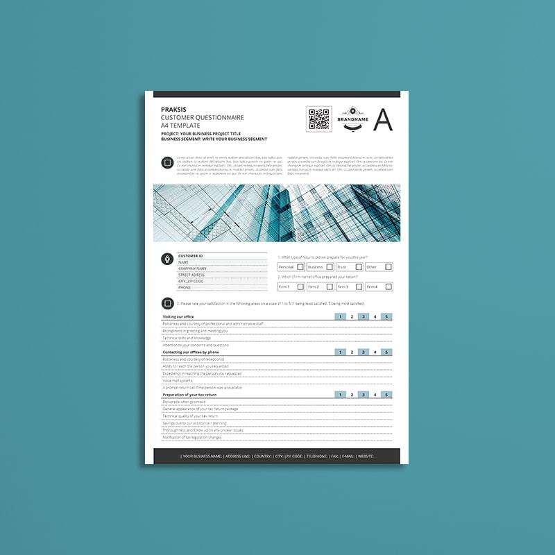 Praksis Customer Questionnaire A4 Template