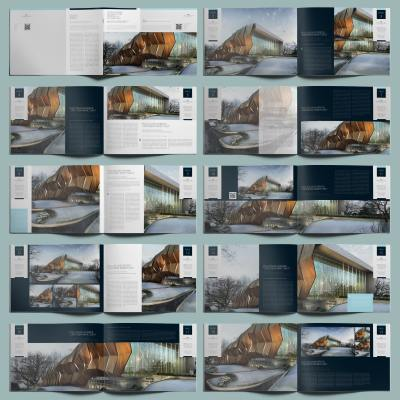 Professional Architecture Portfolio A4 Template - Layouts