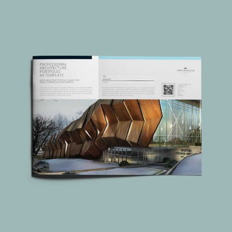 professional architecture portfolio a4 template