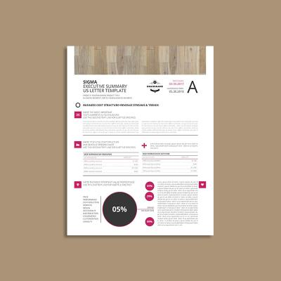 Sigma Executive Summary US Letter Template