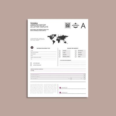 Tessera Absentee Report US Letter Template