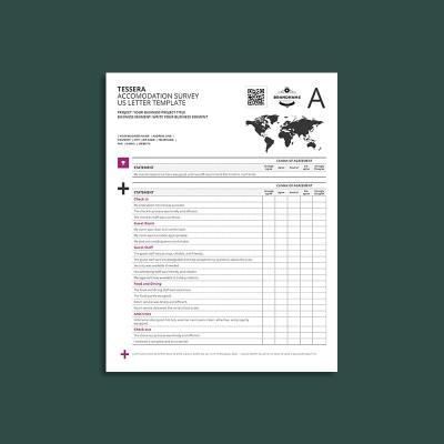 Tessera Accommodation Survey US Letter Template
