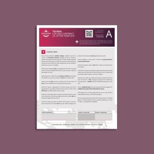 Tessera College Contract US Letter Template