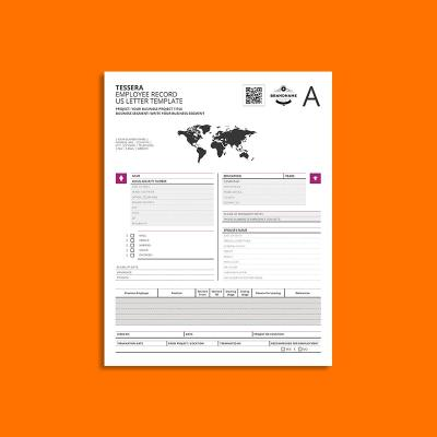Tessera Employee Record US Letter Template