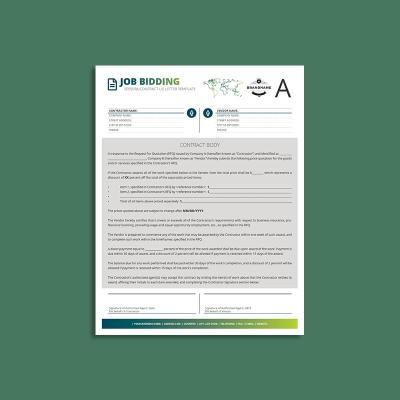 Tessera Job Bidding Contract US Letter Template