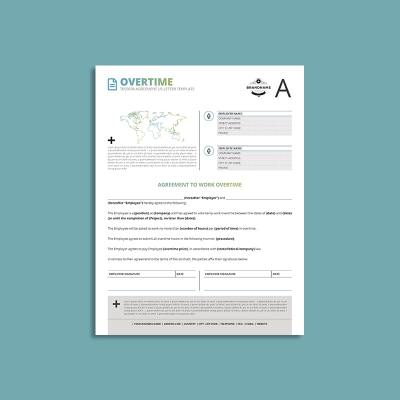 Tessera Overtime Agreement US Letter Template