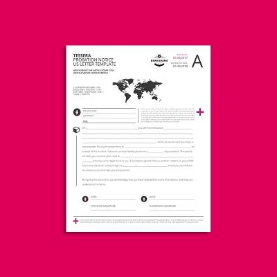 Tessera Probation Notice US Letter Template