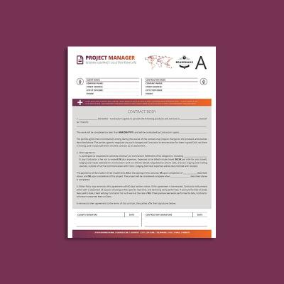 Tessera Project Manager Contract US Letter Template