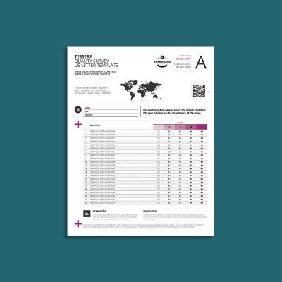Tessera Quality Survey US Letter Template