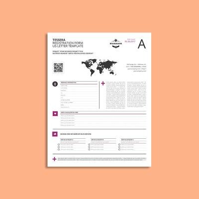 Tessera Registration Form US Letter Template