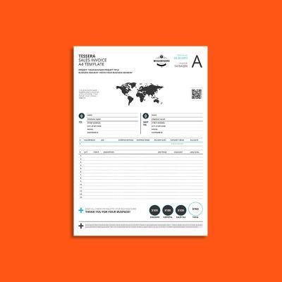Tessera Sales Invoice A4 Template