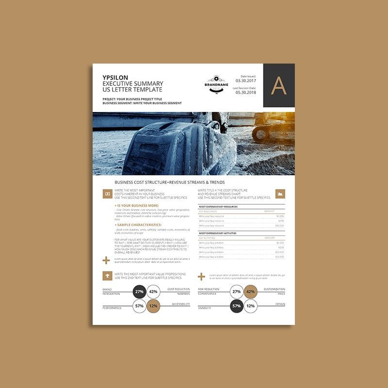 Ypsilon Executive Summary US Letter Template