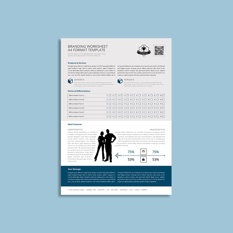 Branding Worksheet A4 Format Template