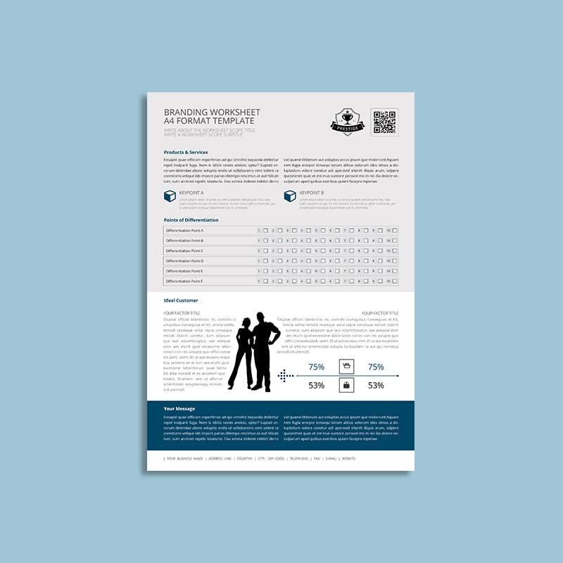 Branding Worksheet A4 Format Template Keboto Org