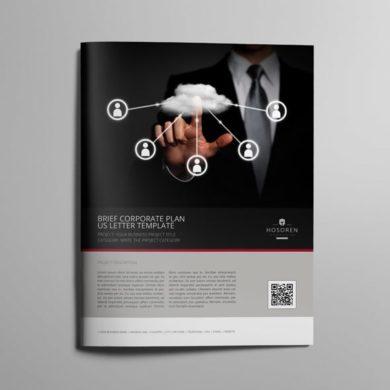 Brief Corporate Plan US Letter Template – kfea 3-min