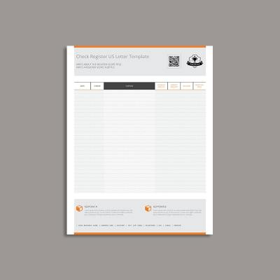 Check Register US Letter Template
