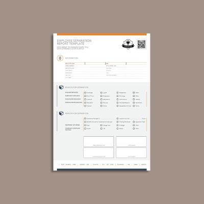 Employee Separation Report Template