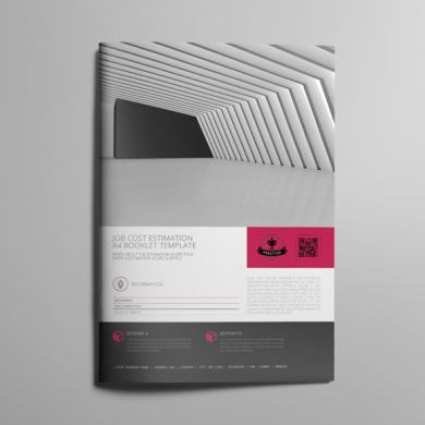 Job Cost Estimation A4 Booklet Template – kfea 1-min