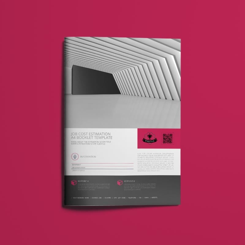 Job Cost Estimation A4 Booklet Template