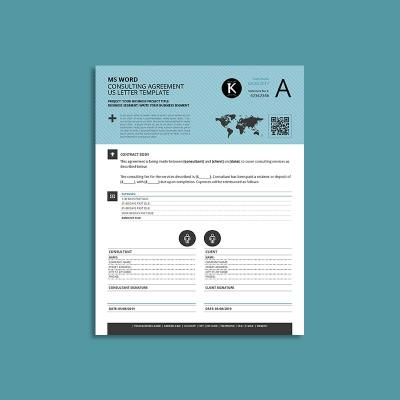 MS Word Consulting Agreement US Letter Template