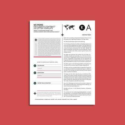 MS Word Exclusivity Contract US Letter Template