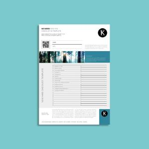 MS Word New Hire Checklist A4 Template