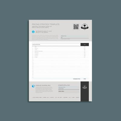 Pricing Strategy US Letter Template