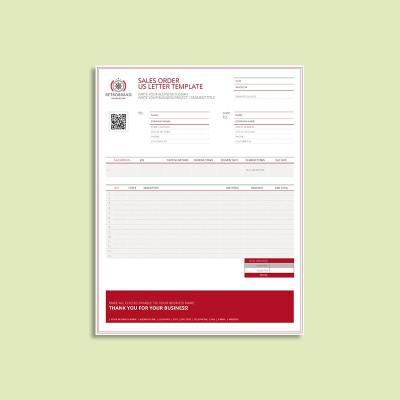 Sales Order US Letter Template