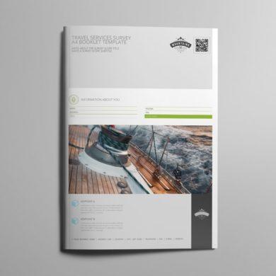Travel Services Survey A4 Booklet Template – kfea 3-min