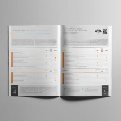 Travel Services Survey US Letter Booklet Template – kfea 3-min
