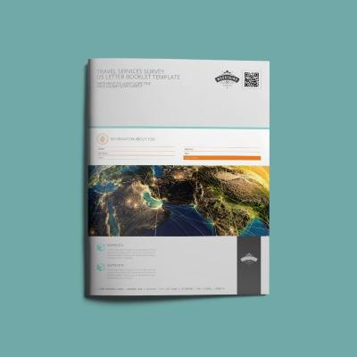 Travel Services Survey US Letter Booklet Template