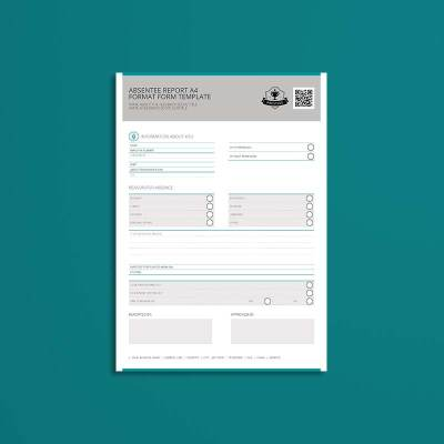Absentee Report A4 Format Form Template