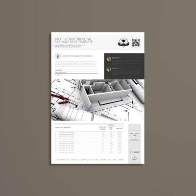 Architecture Proposal A4 Single Page Template