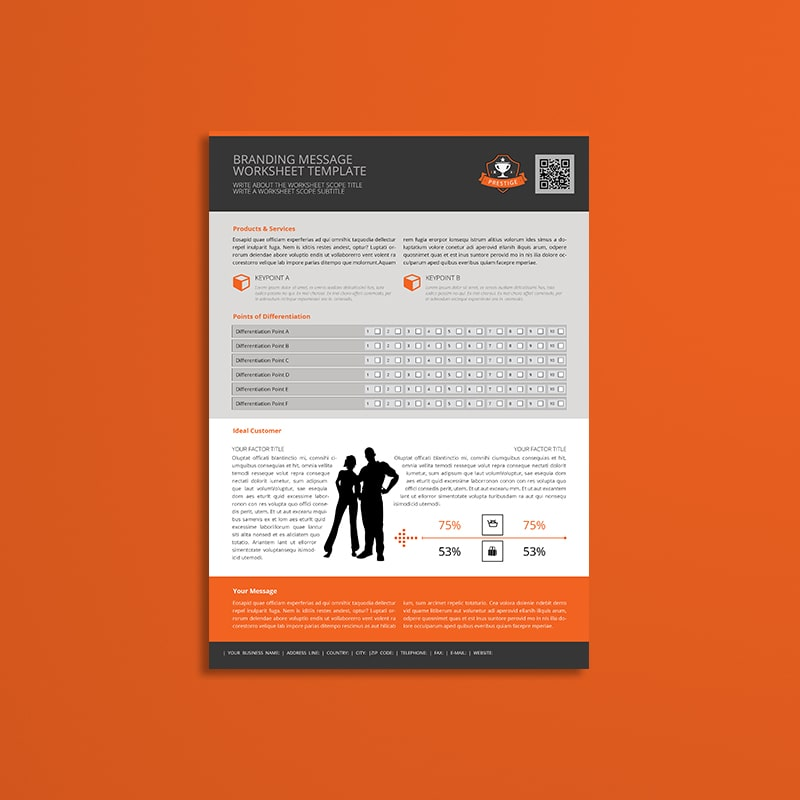 Branding Message Worksheet Template