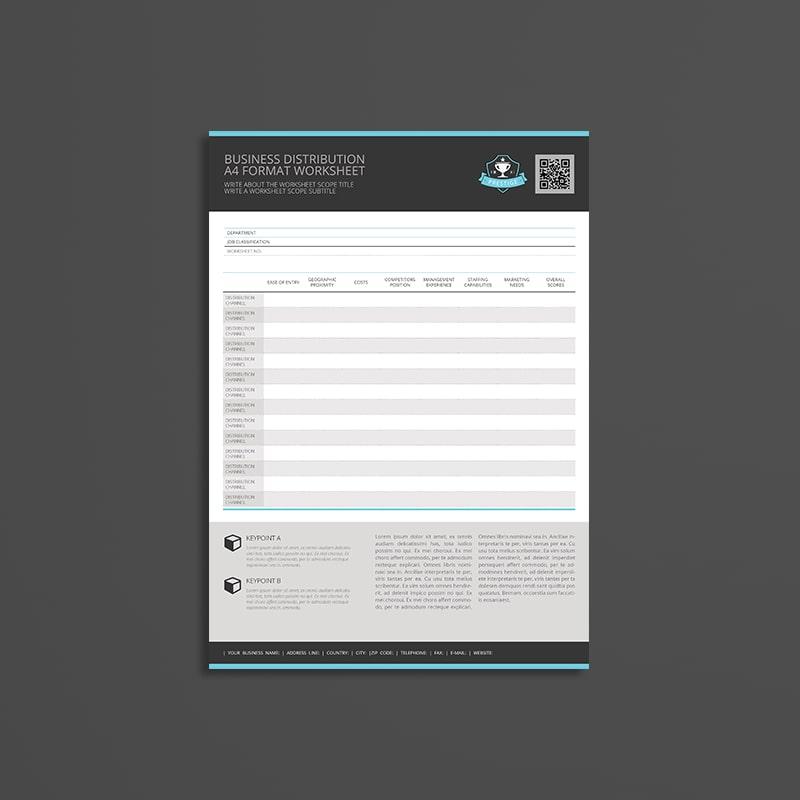 Business Distribution A4 Format Worksheet