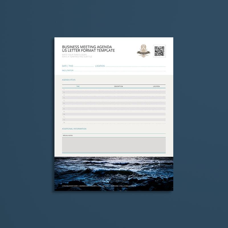 Business Meeting Agenda USL Format Template