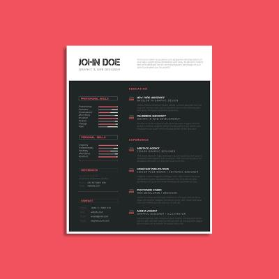 CV Resume Template US Letter