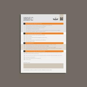 Checklist USL Template 4 Business Trip