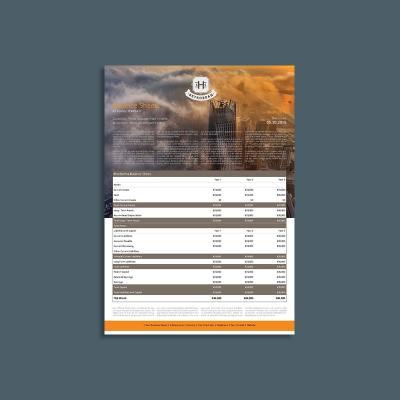 Company Balance Sheet A3 Template