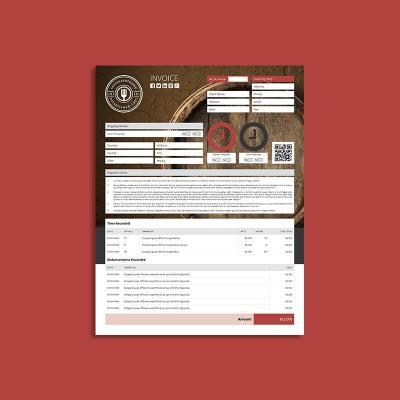 Company Invoice US Letter