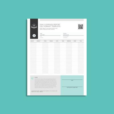 Daily Expense Report USL Format Template